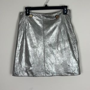 Instante by Giovanni Versace silver skirt size 44